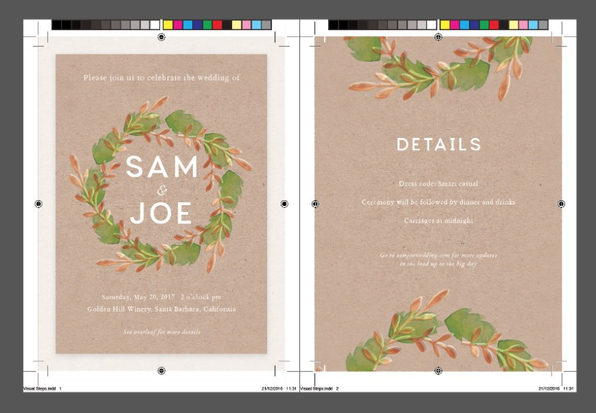 How to create a rustic wedding invitation in adobe indesign invite rsvp card stopboris Gallery