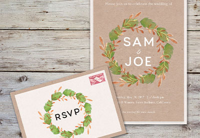 How to design a tropical wedding invite in adobe indesign how to create a rustic wedding invitation in adobe indesign stopboris Choice Image