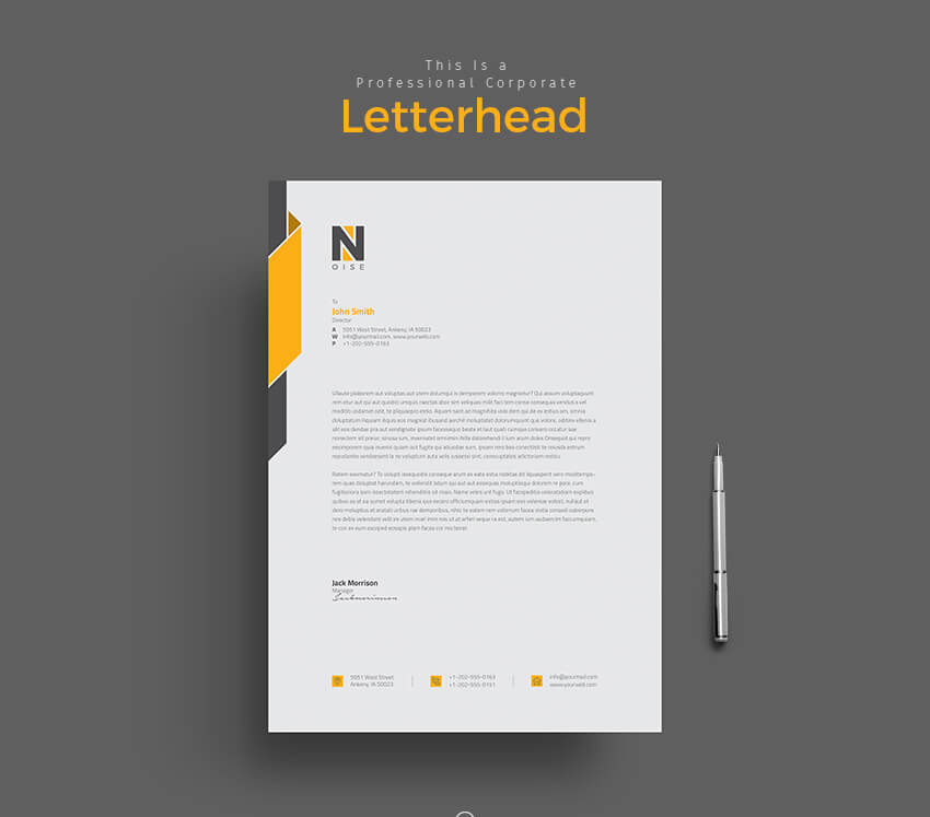 11 tips for creating professional letterhead logo letterhead template altavistaventures Image collections