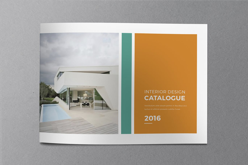 minimal indesign catalog template