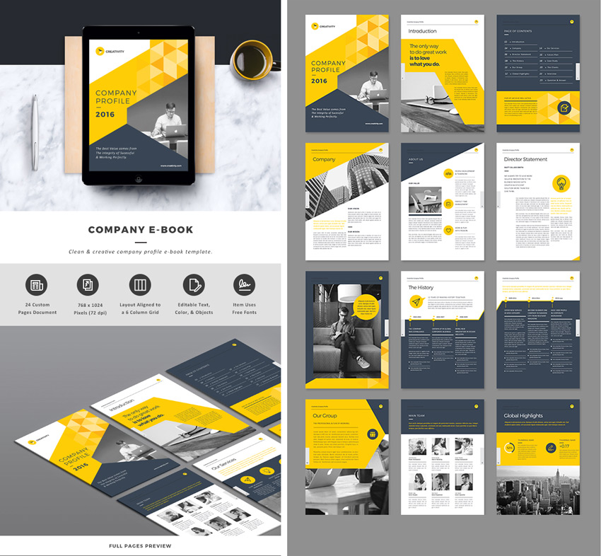 Company Indesign Ebook Template