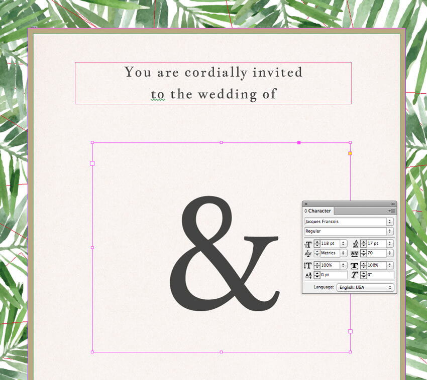 How to Design a Tropical Wedding Invite in Adobe InDesign