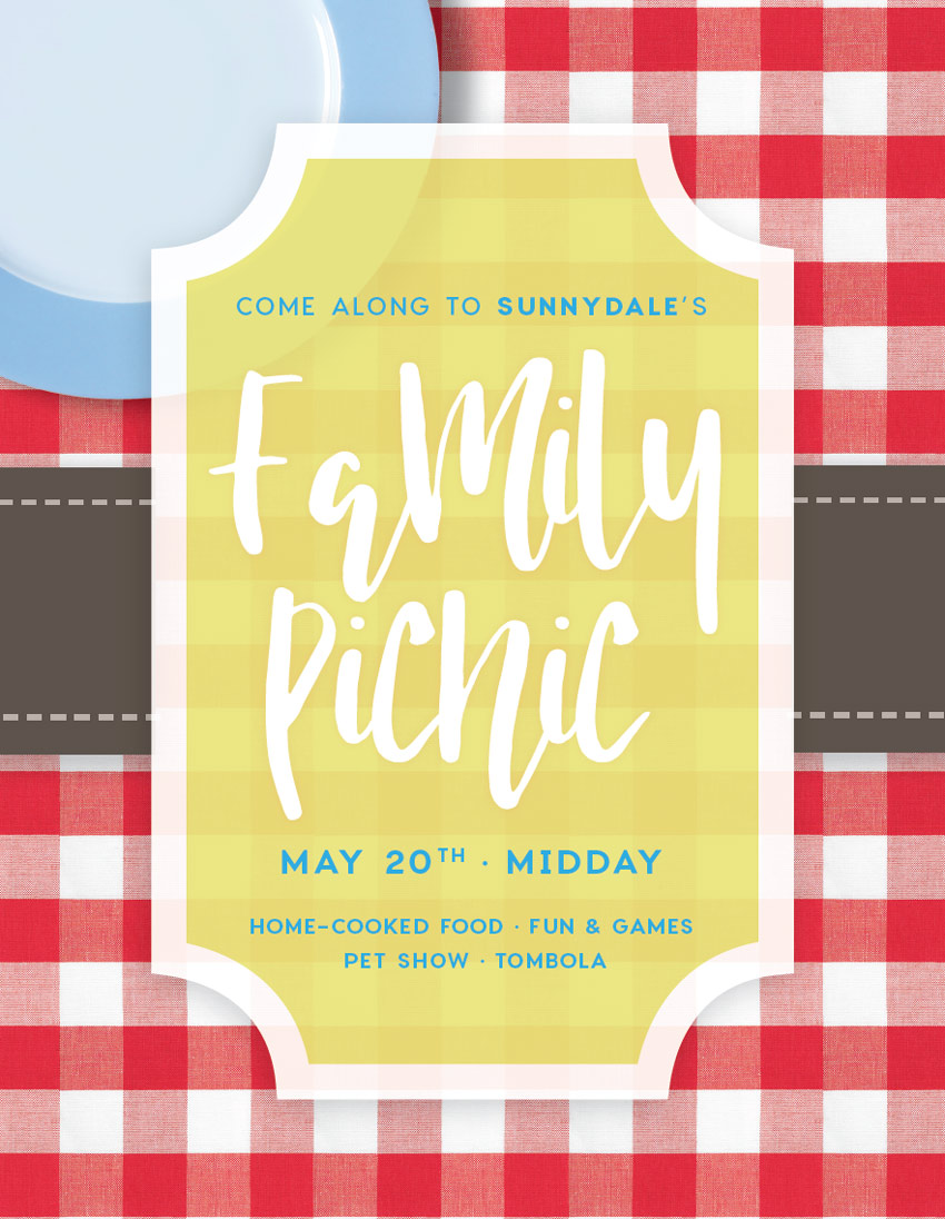 how to create a summer picnic community event flyer in