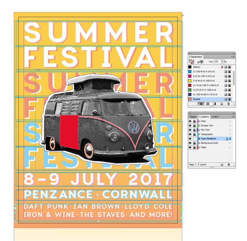 How to Create a Vintage Music Festival Flyer in Adobe InDesign