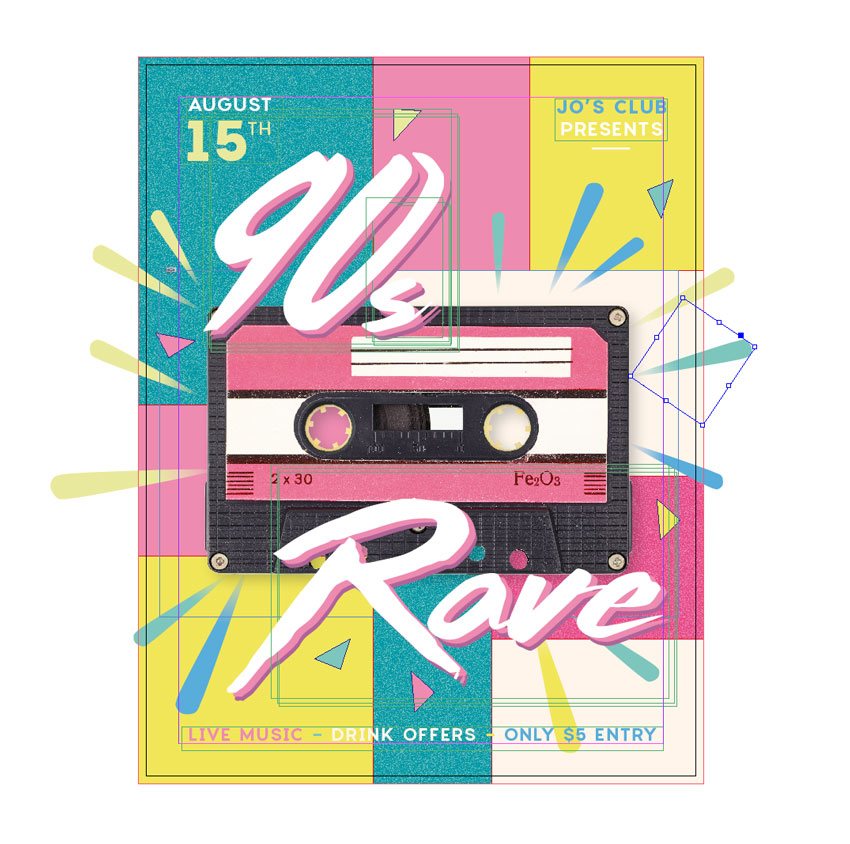 How to Create a 90s Style Event Flyer in Adobe InDesign