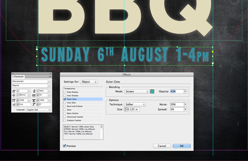 how to create a line in indesign