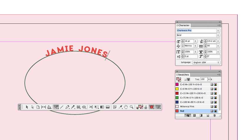 Curved Line Indesign : How to create a millennial pink stationery set in adobe