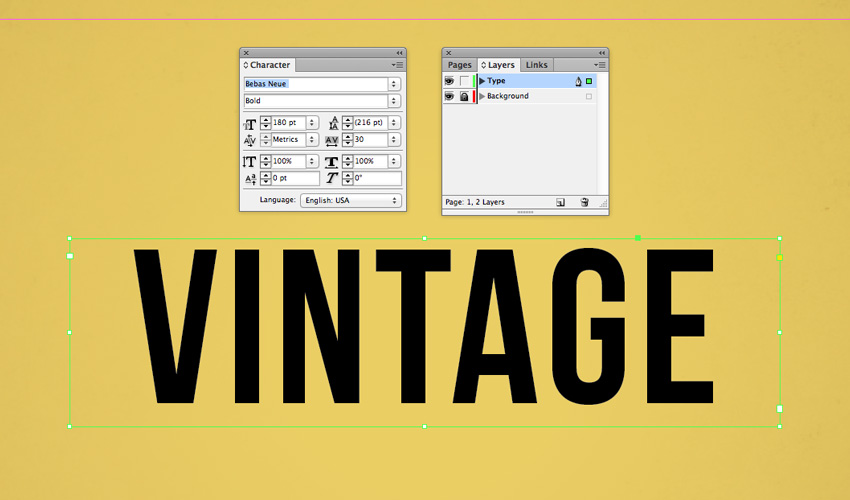 How to Create a Quick Vintage Text Effect in Adobe InDesign