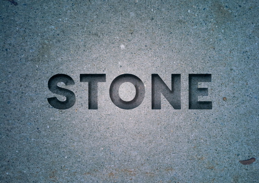 How To Create An Engraved Stone Text Effect In Adobe