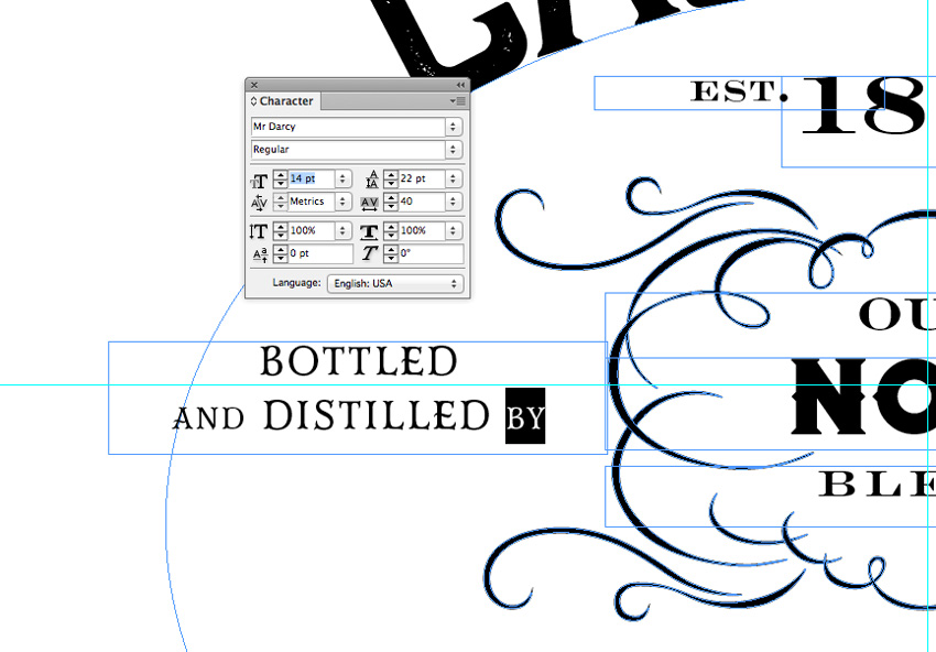 How to Create a Jack Daniels-Inspired Whiskey Label in Adobe InDesign & Illustrator