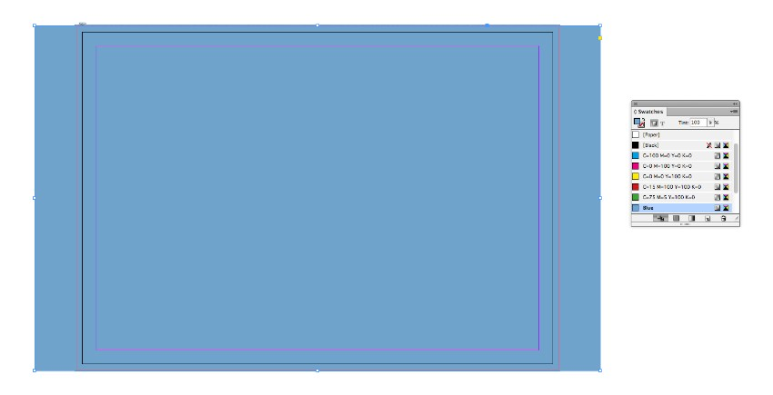 blue fill shape
