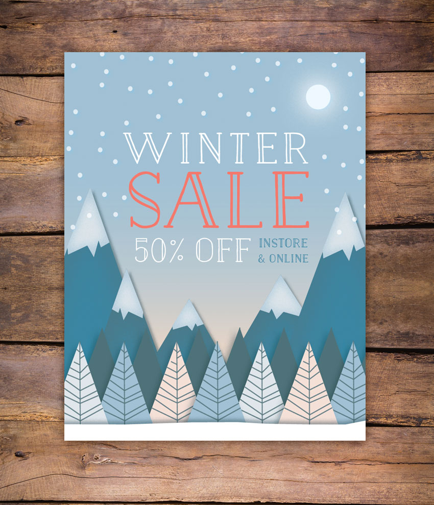 How to Create a Winter Sale Flyer in Adobe InDesign