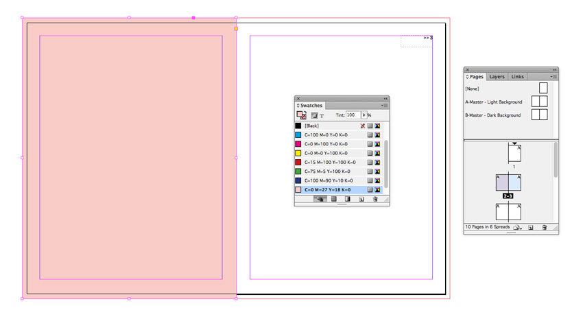 how to set up a master page in indesign
