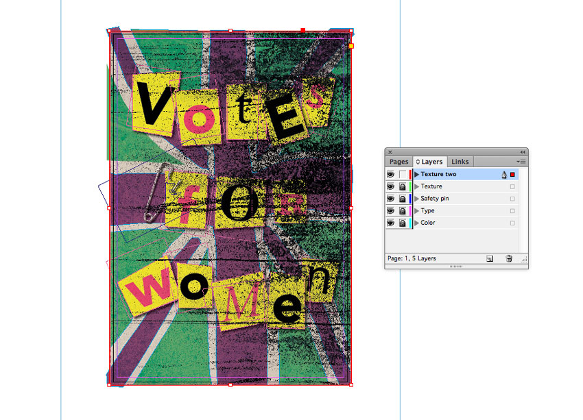 How to Create a Suffragette-Inspired Poster in Adobe InDesign #100Years