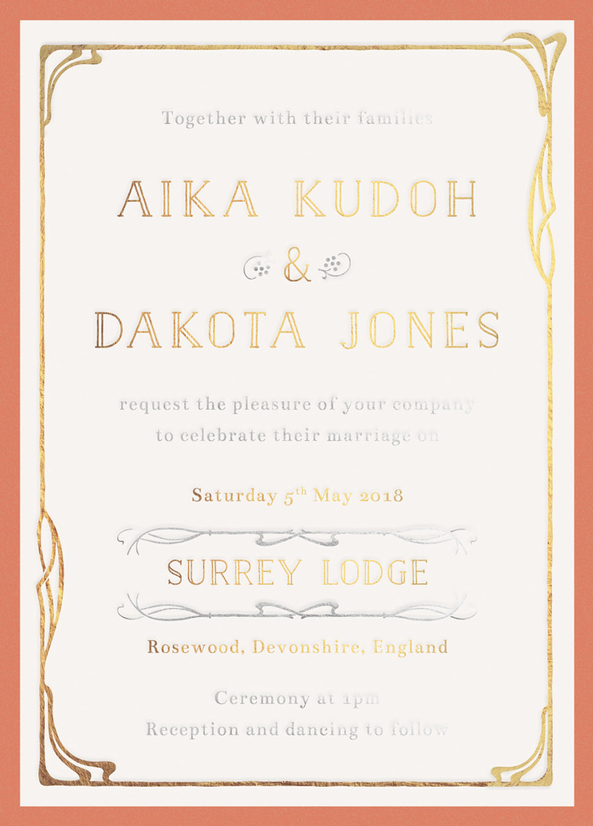 How to create an art nouveau wedding invite in adobe indesign final product image yelopaper Images