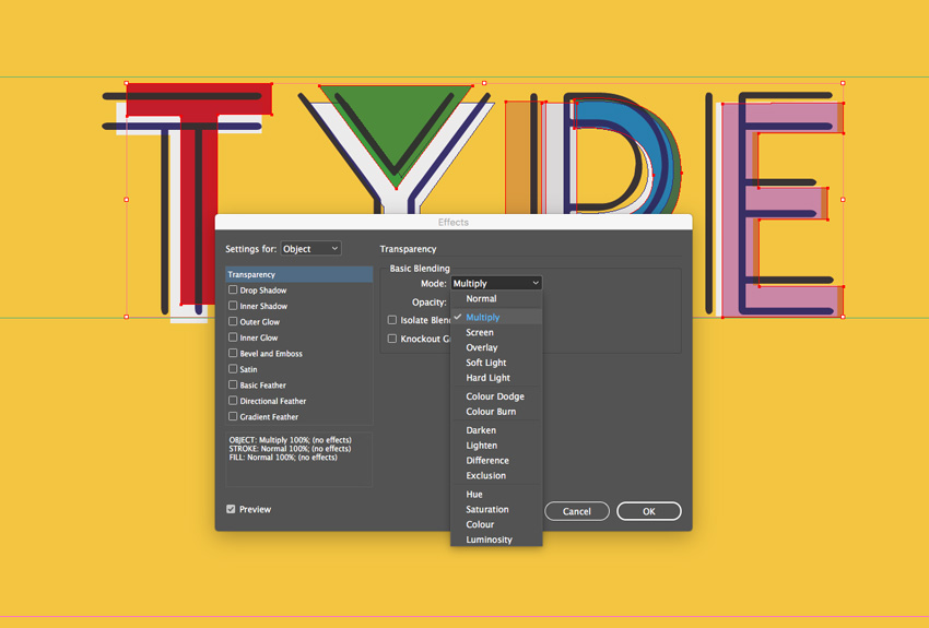 how to create a bold 90s text effect in adobe indesign