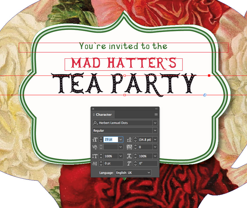 tea party text