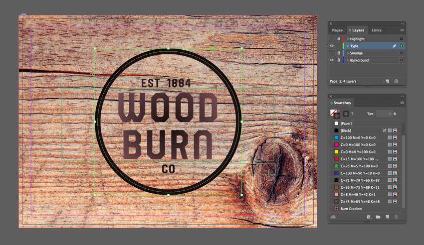 burn gradient applied