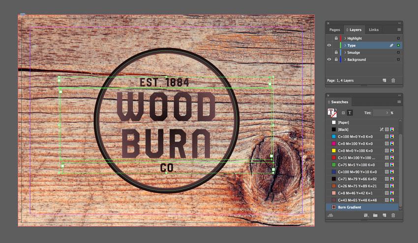 font color burn gradient