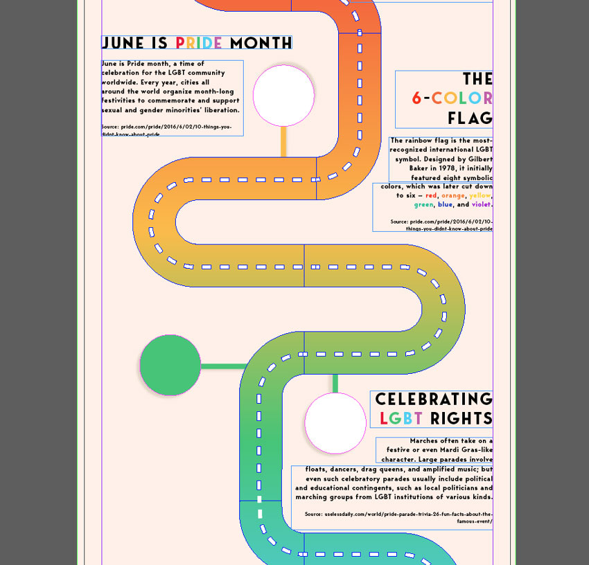 How To Create A Rainbow Road Infographic To Celebrate Pride Month