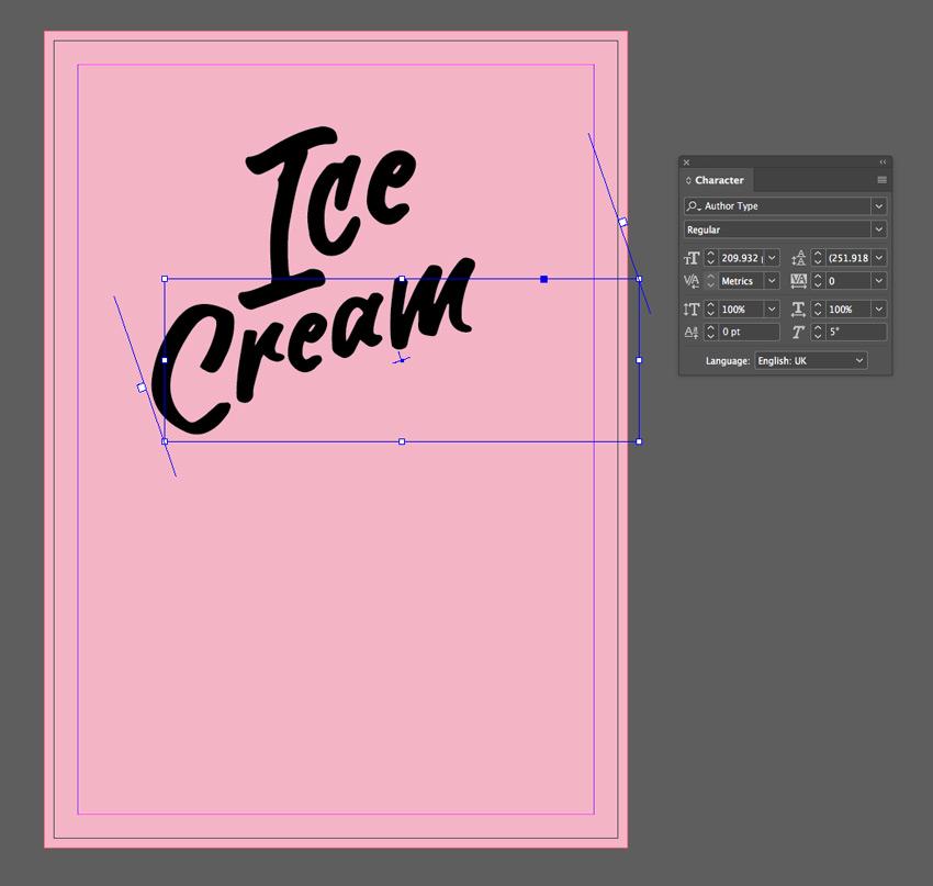 cream text