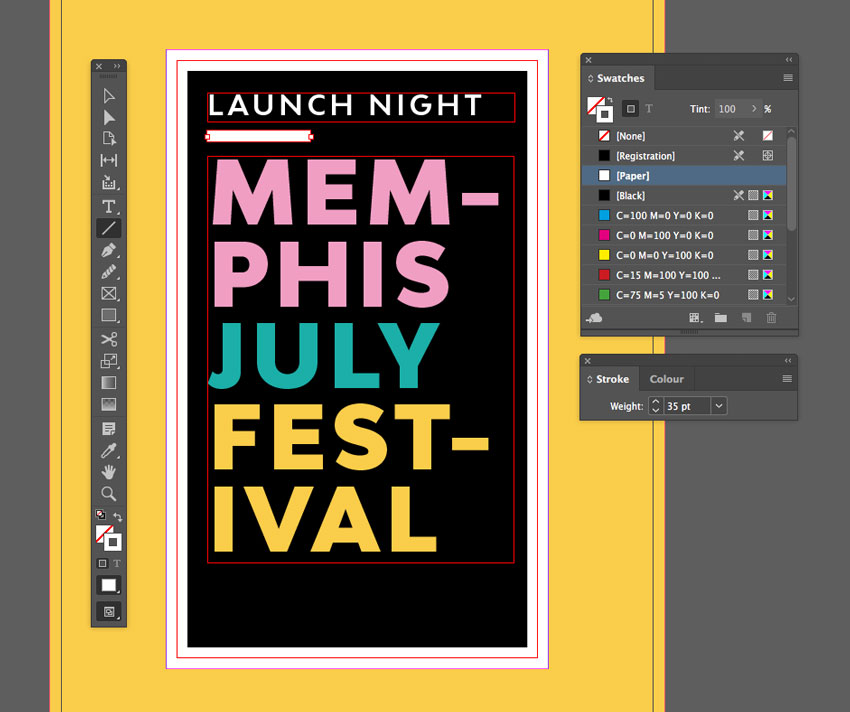 How to Create a Memphis Style Club Poster in Adobe InDesign