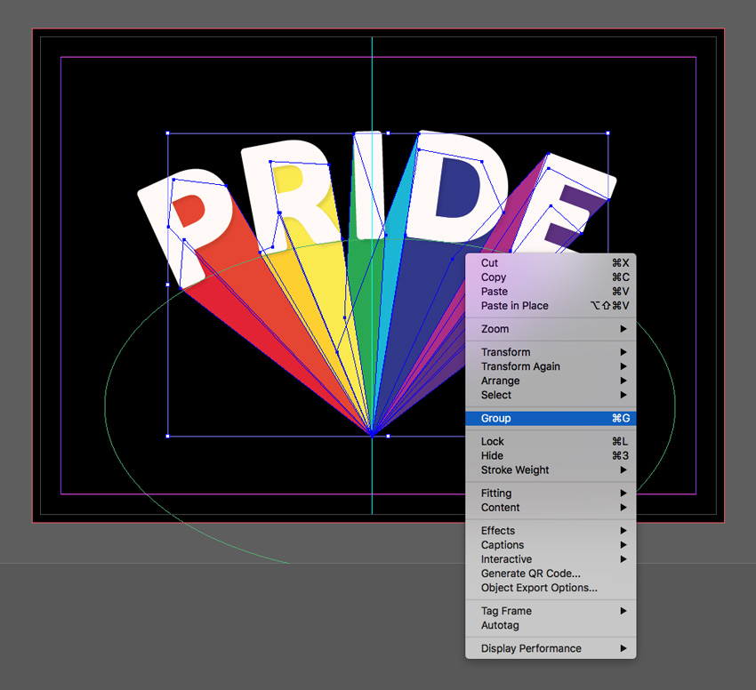 How to Create a Quick Rainbow Pride Text Effect in Adobe InDesign