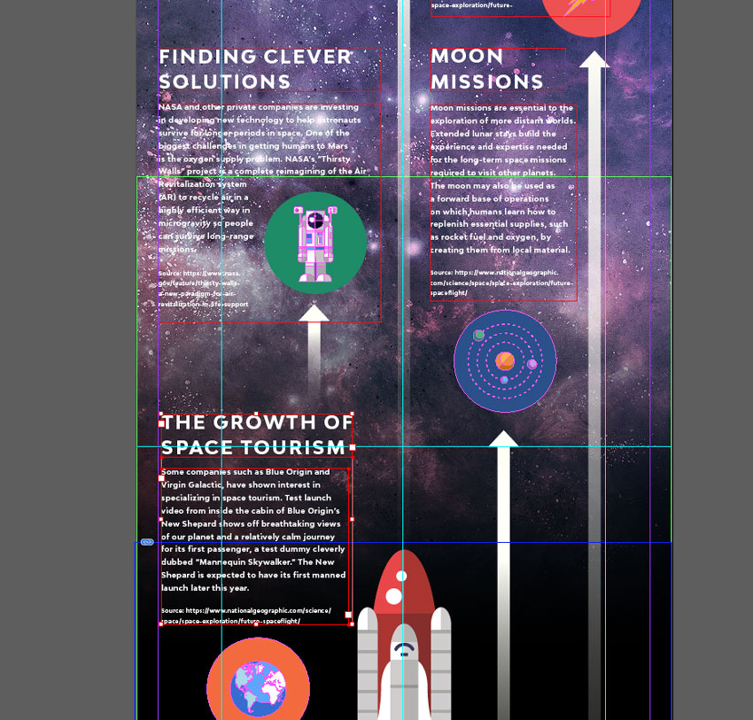 How to Create a Space Travel Infographic in Adobe InDesign