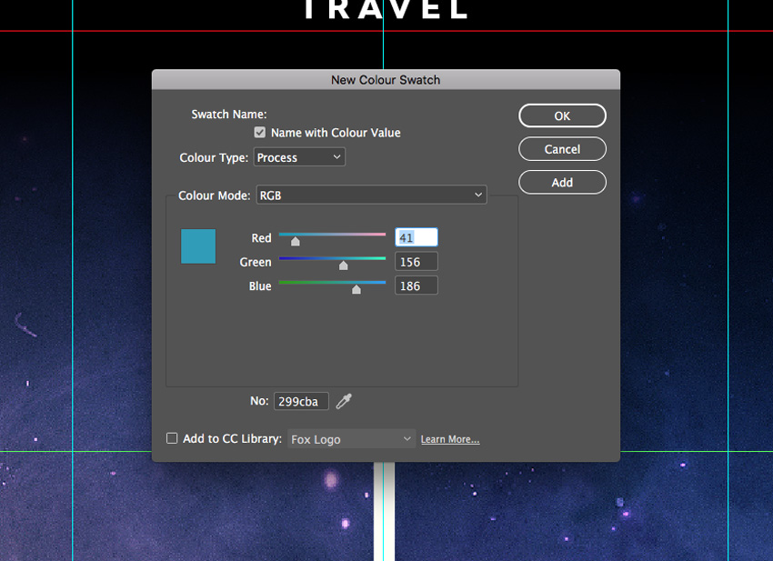 how to create new swatch in indesign