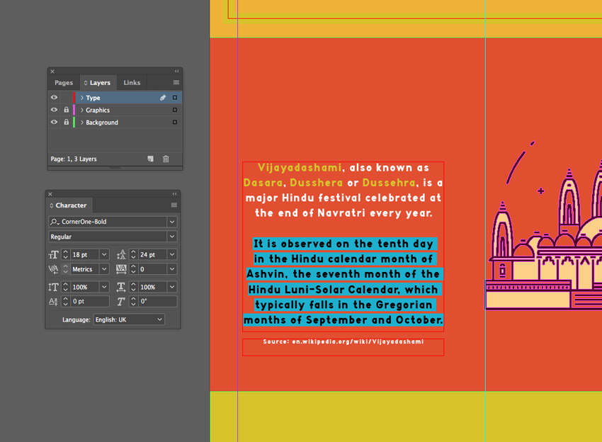 How to Create a Colourful Dasara Infographic in InDesign