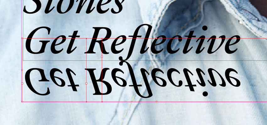 reflected text