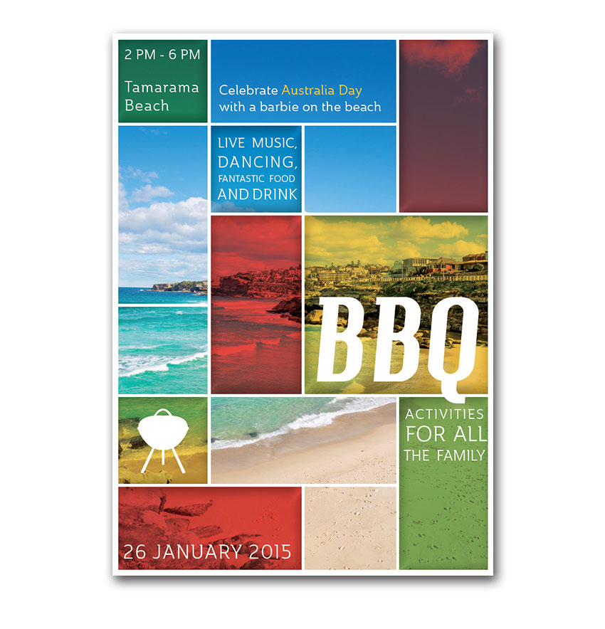 colored flyer bbq