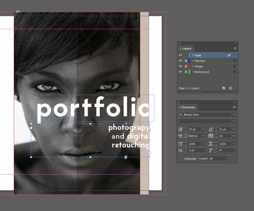 How To Make A Portfolio Brochure Template In Indesign