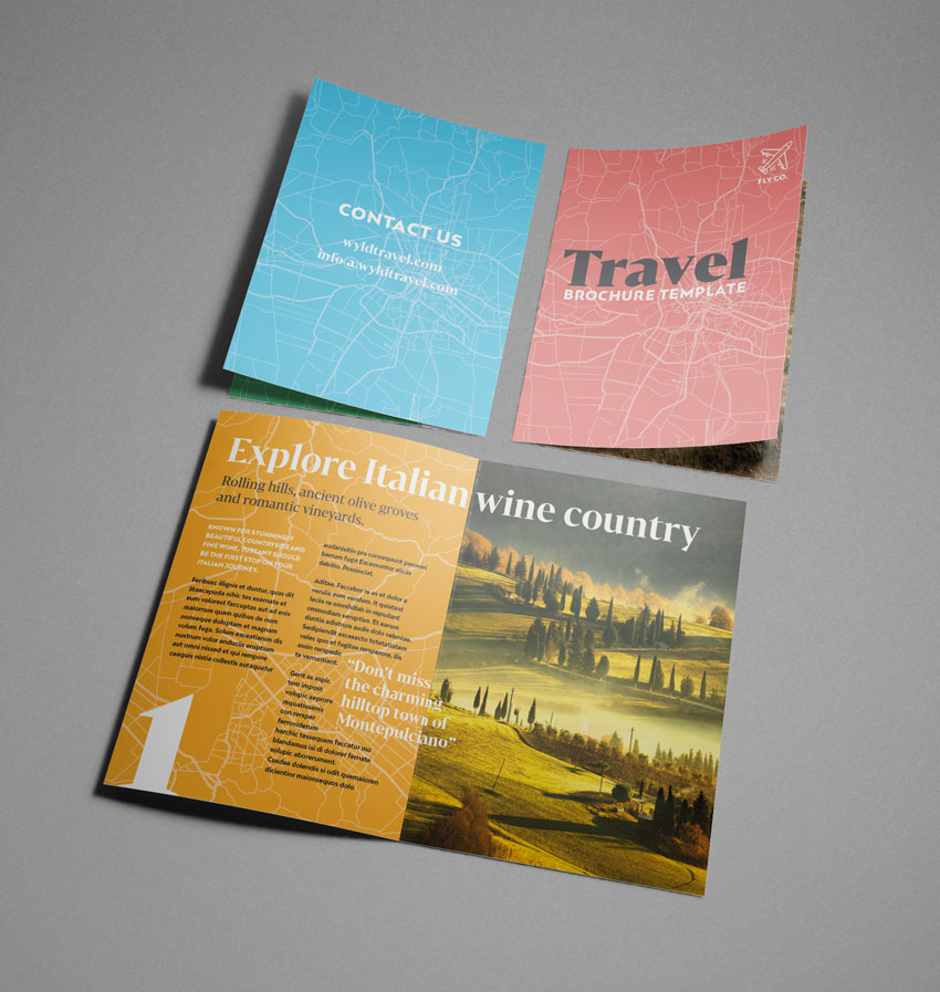 how to make a travel brochure with paper