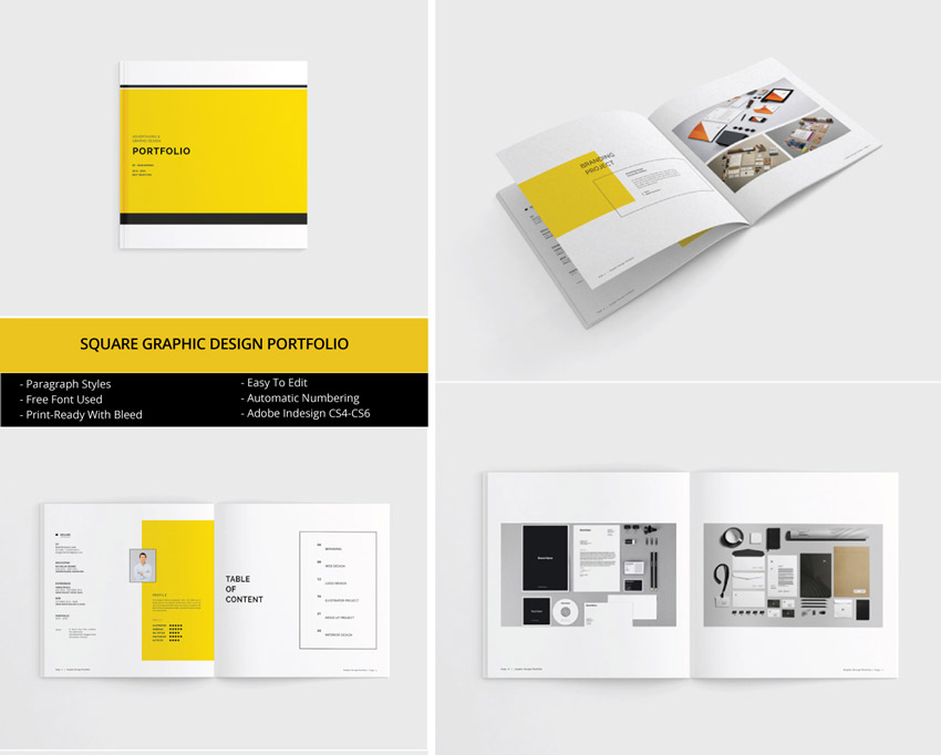 Square Indesign Portfolio Template