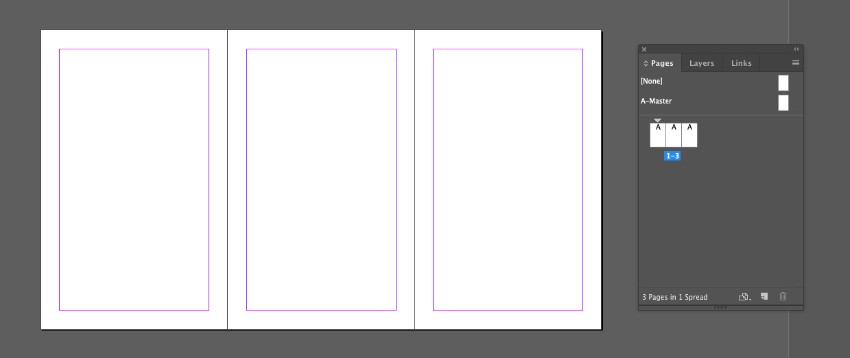complete trio of pages