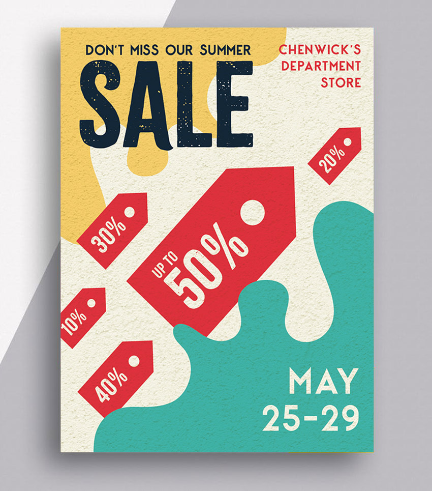 how to make a sales flyer template in indesign