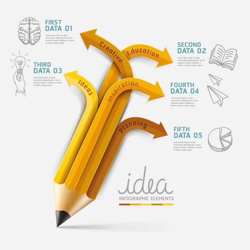 pencil infographic