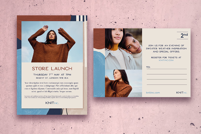 retail fashion postcard