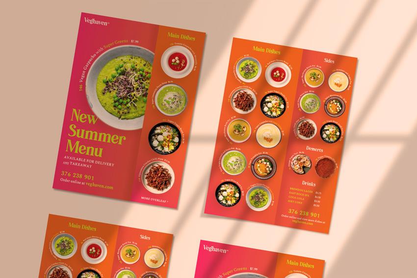 menu design menu of a restaurant