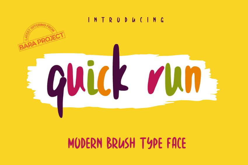 quick run font