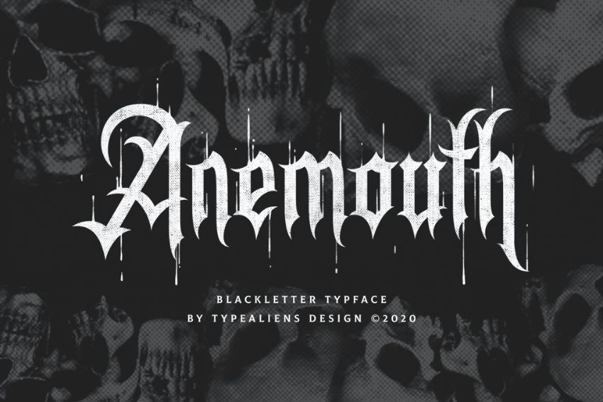 anemouth font