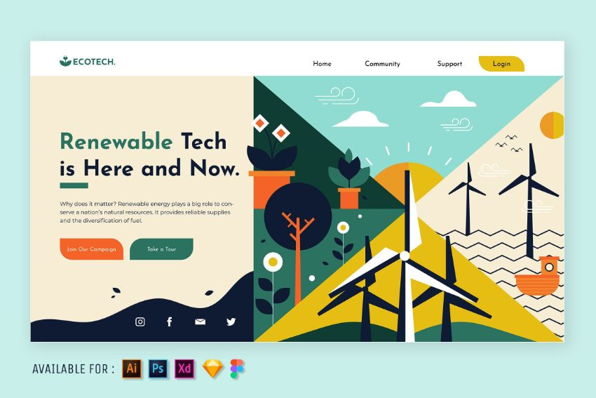 Renewable technology web