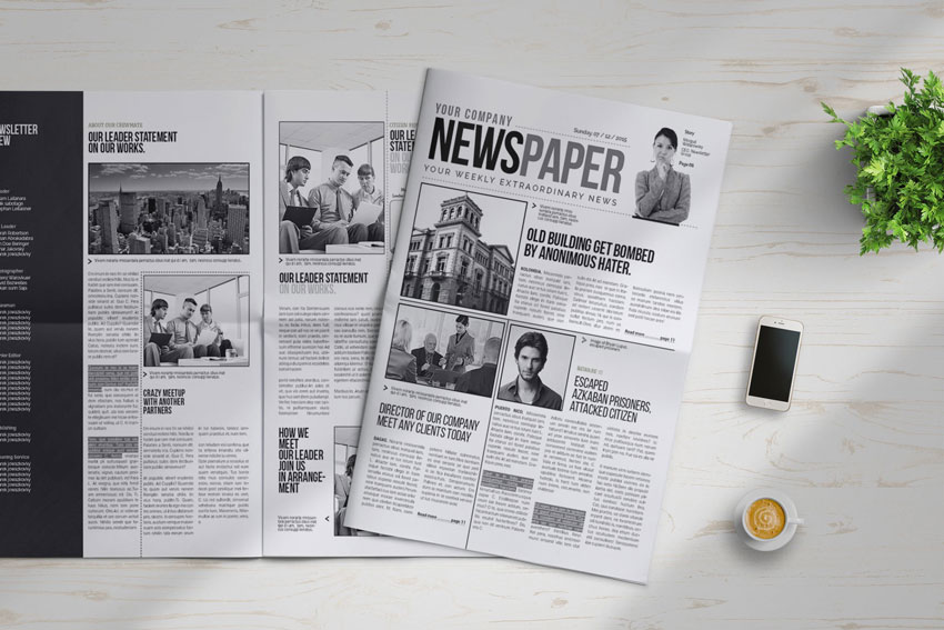 a3 newspaper template