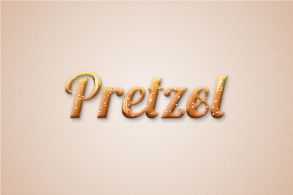 Pretzel text effect