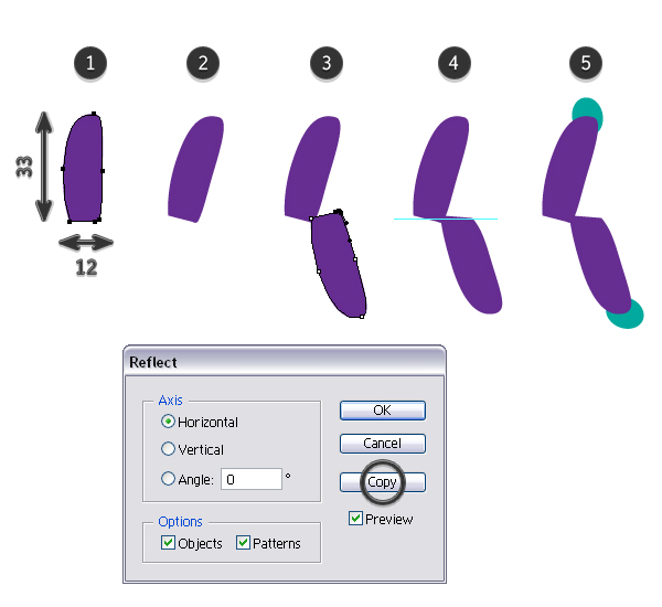 Create baseball stitch brush