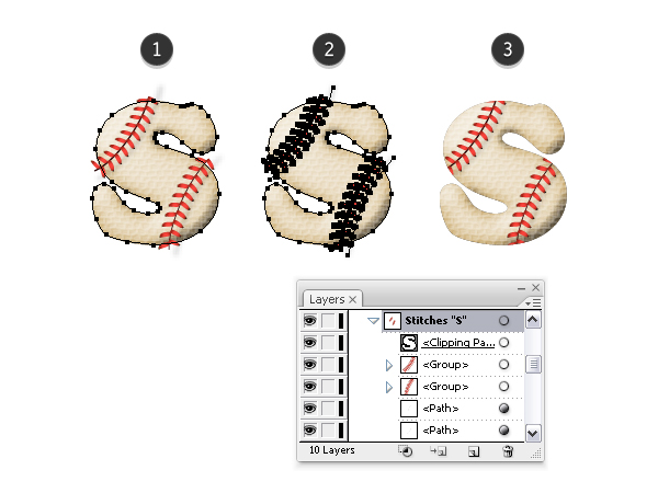 Mask baseball stitches