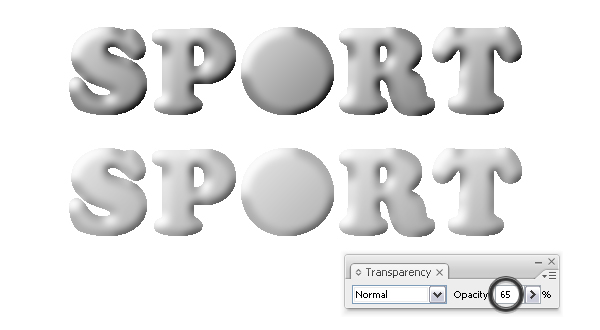 Apply Bas Relief effect to text 2