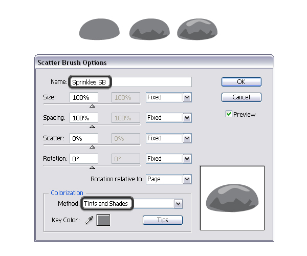 create sprinkles scatter brush