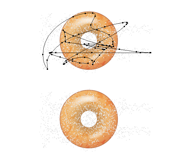 add sugar on donut 2
